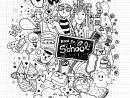 Complexe Doodle Rentree Des Classes Sur Cahier - Coloriage à Cahier Coloriage A Imprimer