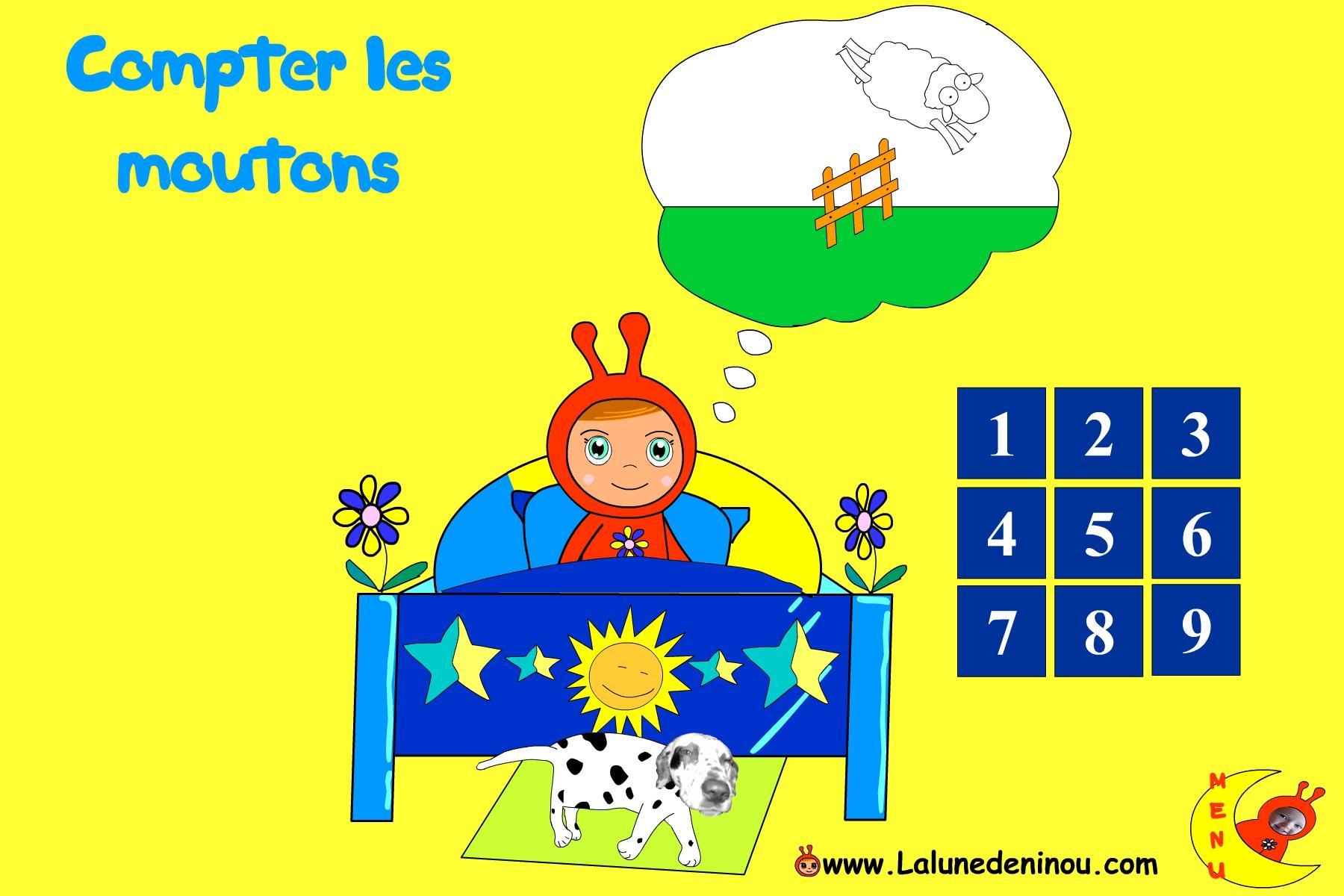Compter Les Moutons Pour S'endormir - Jeux Sur Lalunedeninou dedans Jeux Gratuit Pour Garcon De 4 Ans