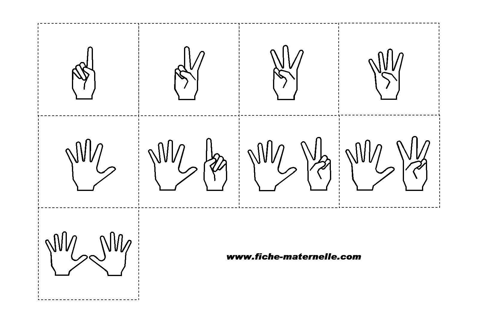 Compter Sur Les Doigts Représentation | Étiquette Maternelle dedans Apprendre A Compter Maternelle