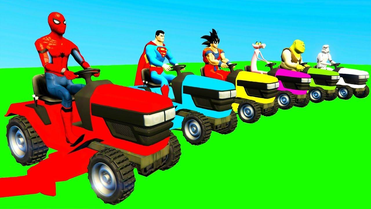 Comptines Bébé - Dessins Animés Pour Enfants & Tracteur Et Voitures Colorées à Sam Le Tracteur Dessin Anime
