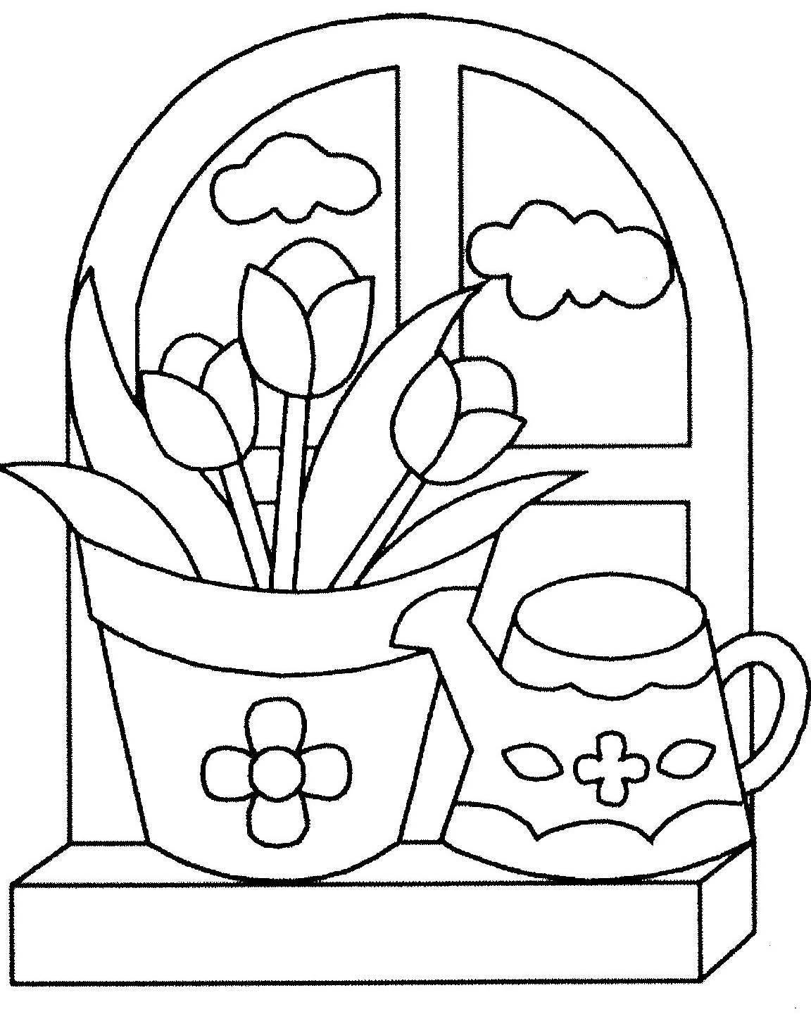 Comptines Et Coloriages Printemps avec Dessin A Colorier De Fleur