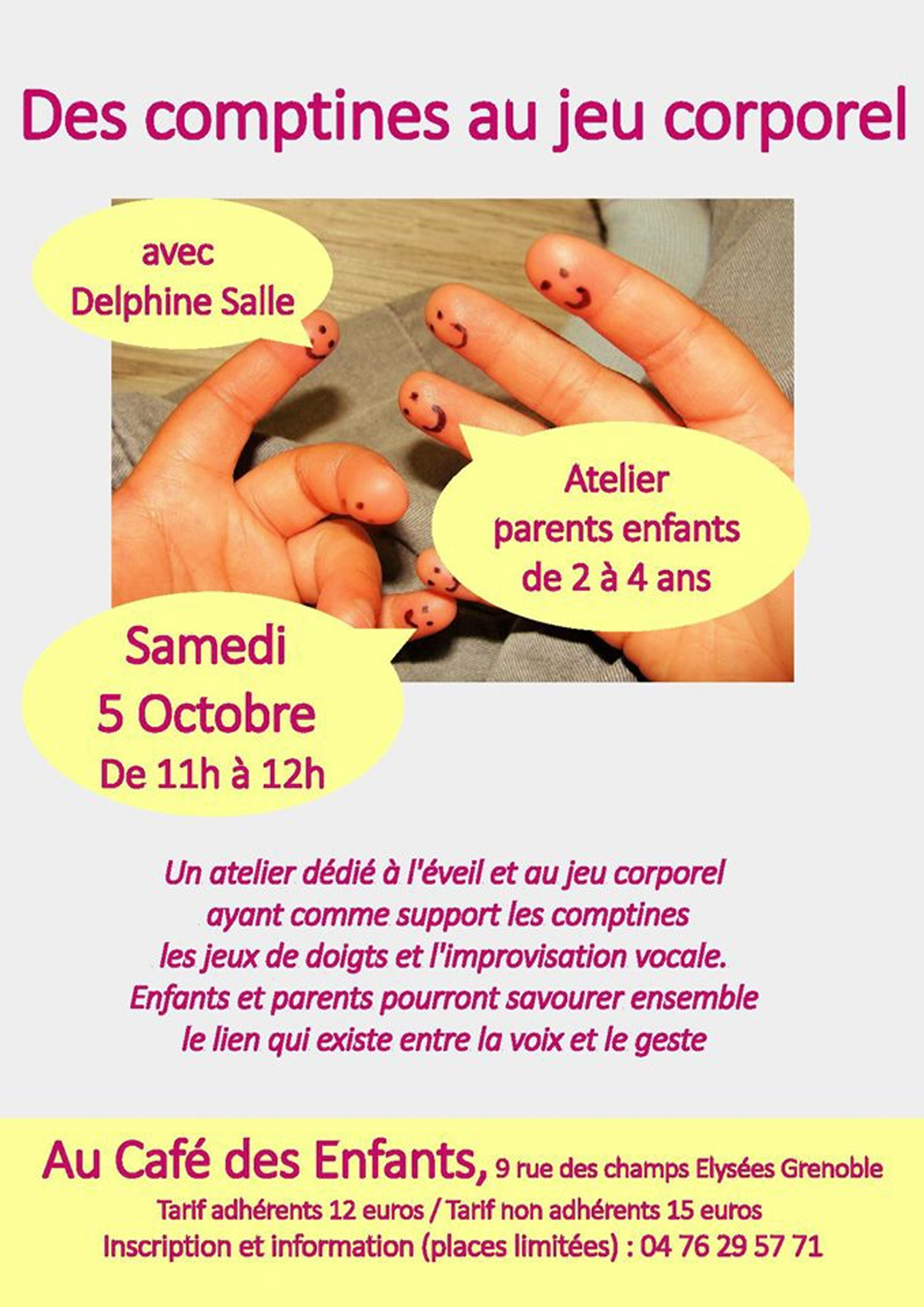 Comptines Et Jeux Corporels Avec Delphine Salle: Pour Les concernant Jeux Pour Enfant De 4 Ans