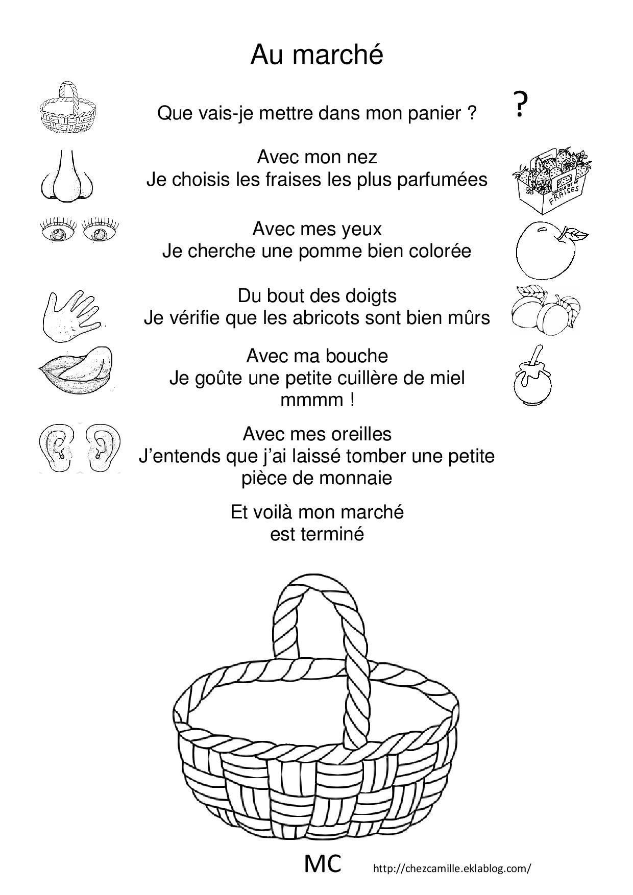 Comptines Les 5 Sens | Comptines, Apprendre Le Français Et 5 serapportantà Les 5 Sens Activités Maternelle