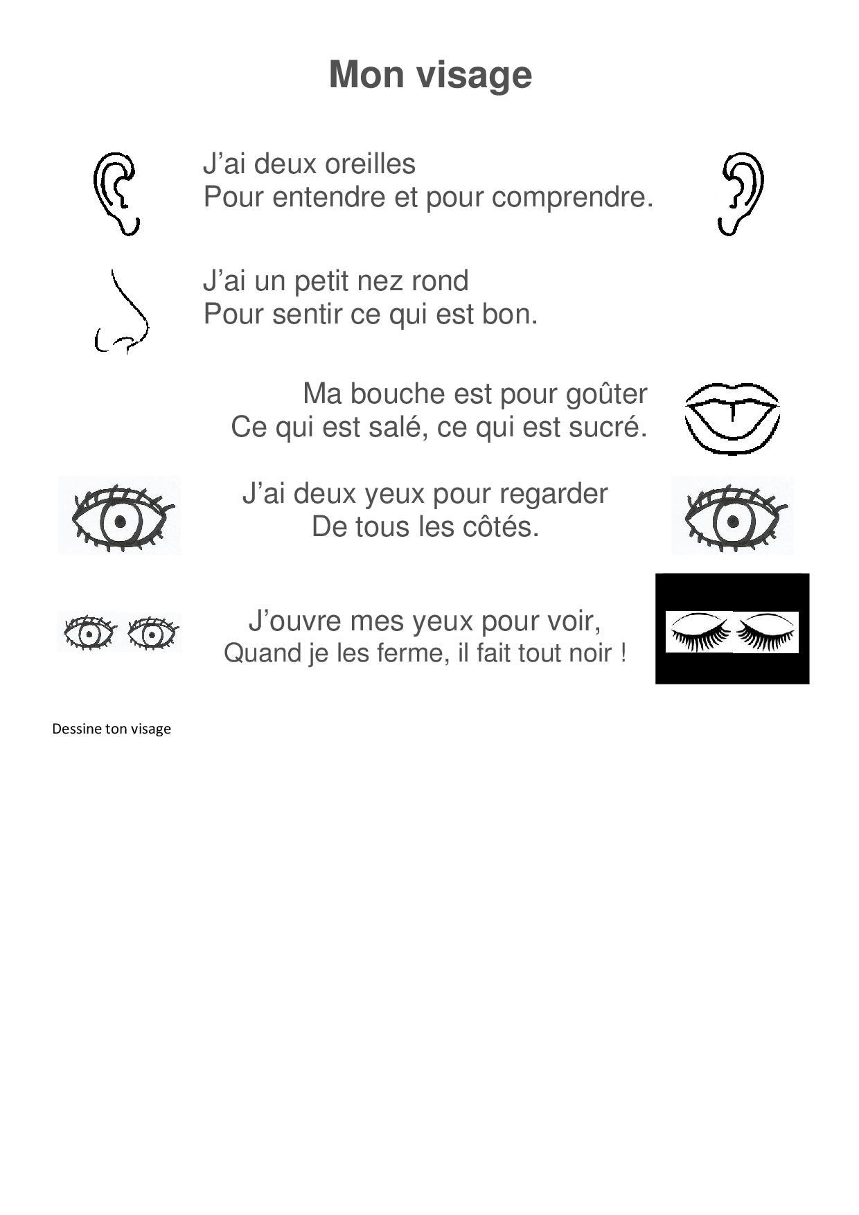 Comptines Les 5 Sens - La Maternelle De Camille concernant Les 5 Sens Activités Maternelle