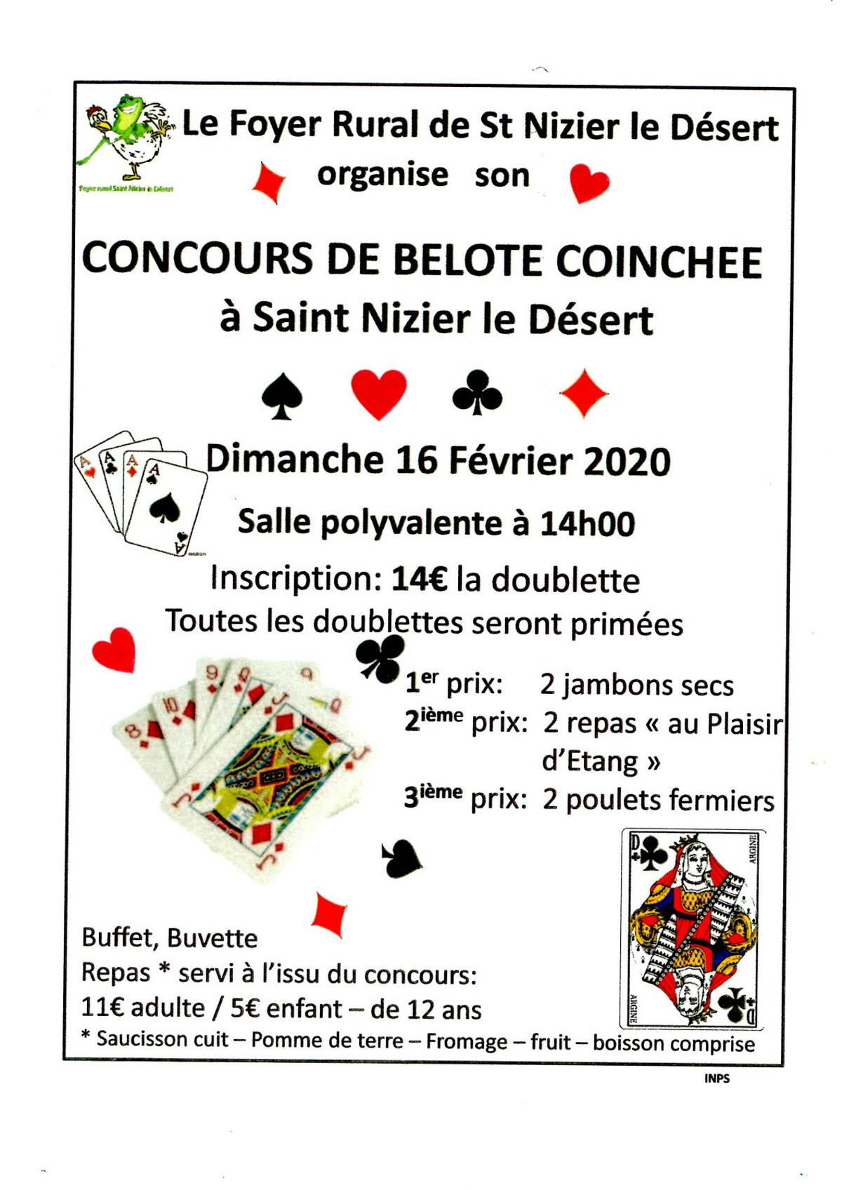 Concours De Belote Coinchee : Jeu De Cartes Coinche A Saint tout Jeux De Secs
