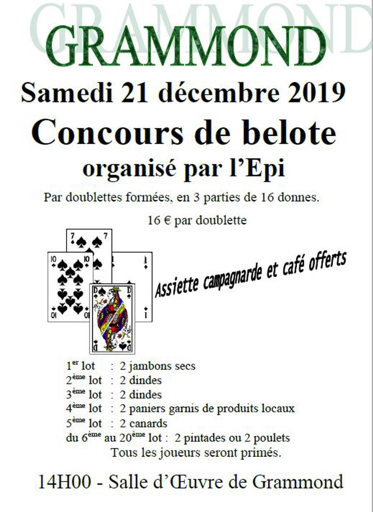 Concours De Belote : Jeu De Cartes Belote A Grammond à Jeux De Secs
