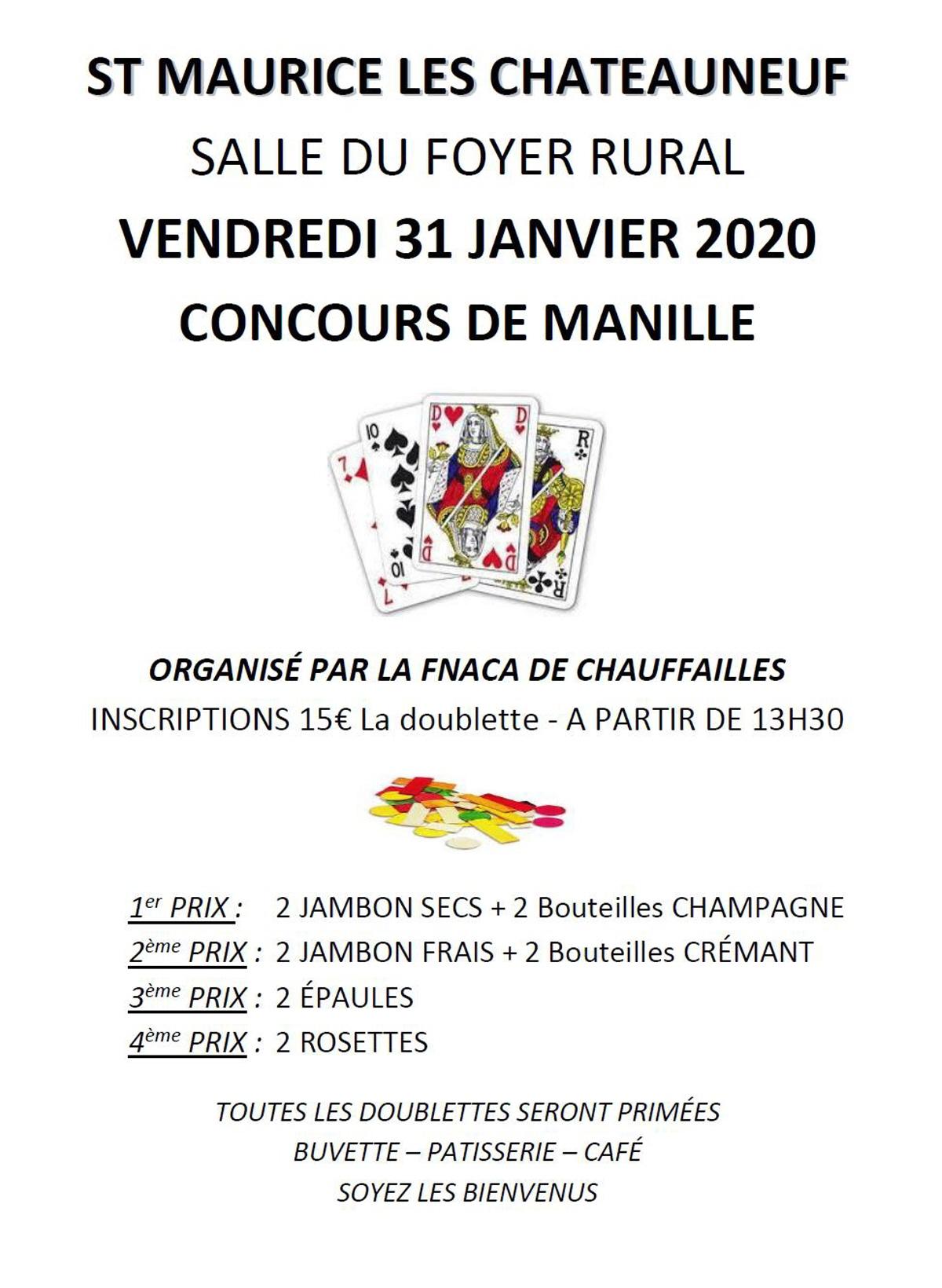 Concours De Manille : Jeu De Cartes Coinche A Saint Maurice avec Jeux De Secs