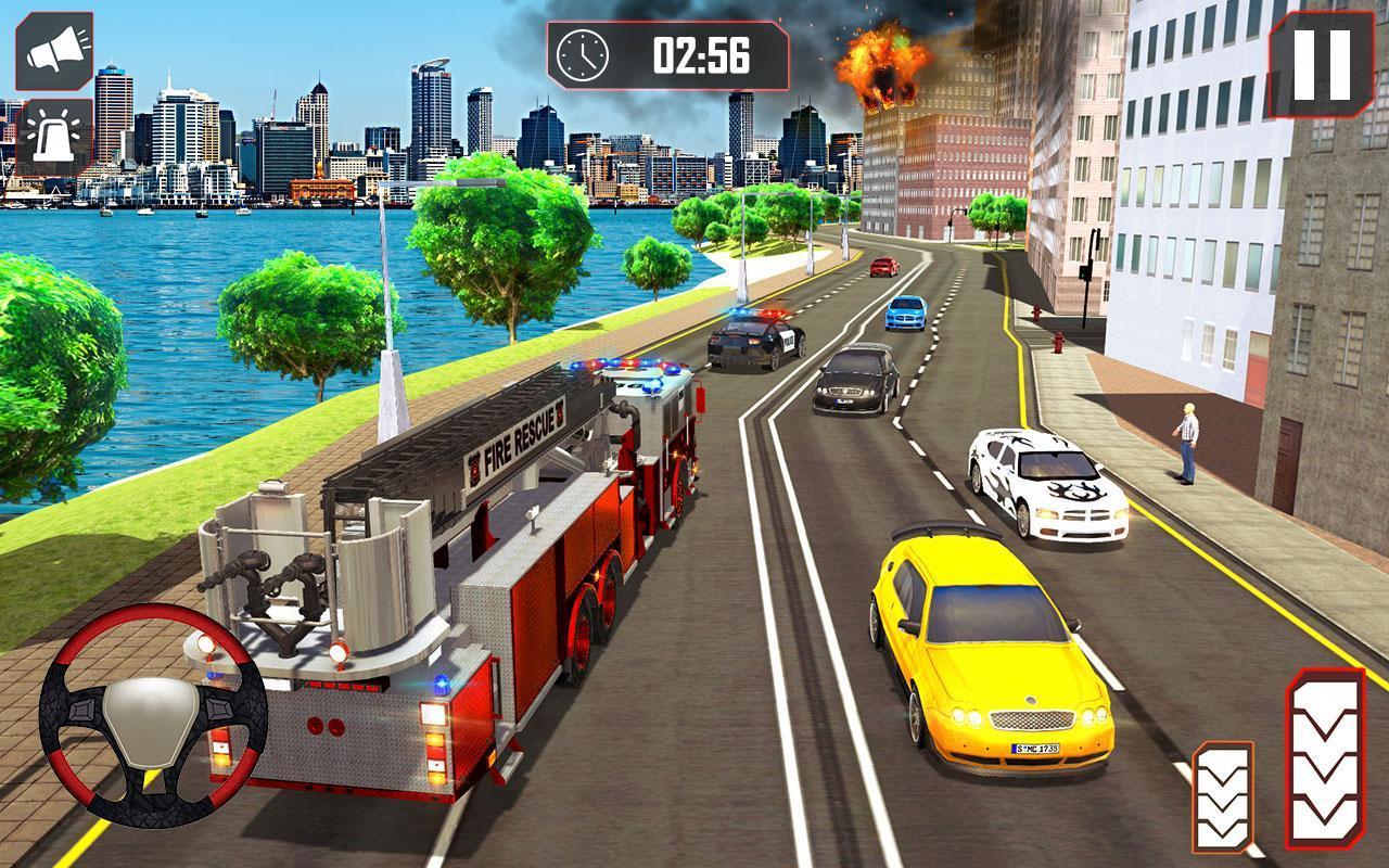 Conduire Camion Pompier 911 Pompiers Jeux Moteur Pour concernant Jeux De Camion De Pompier Gratuit