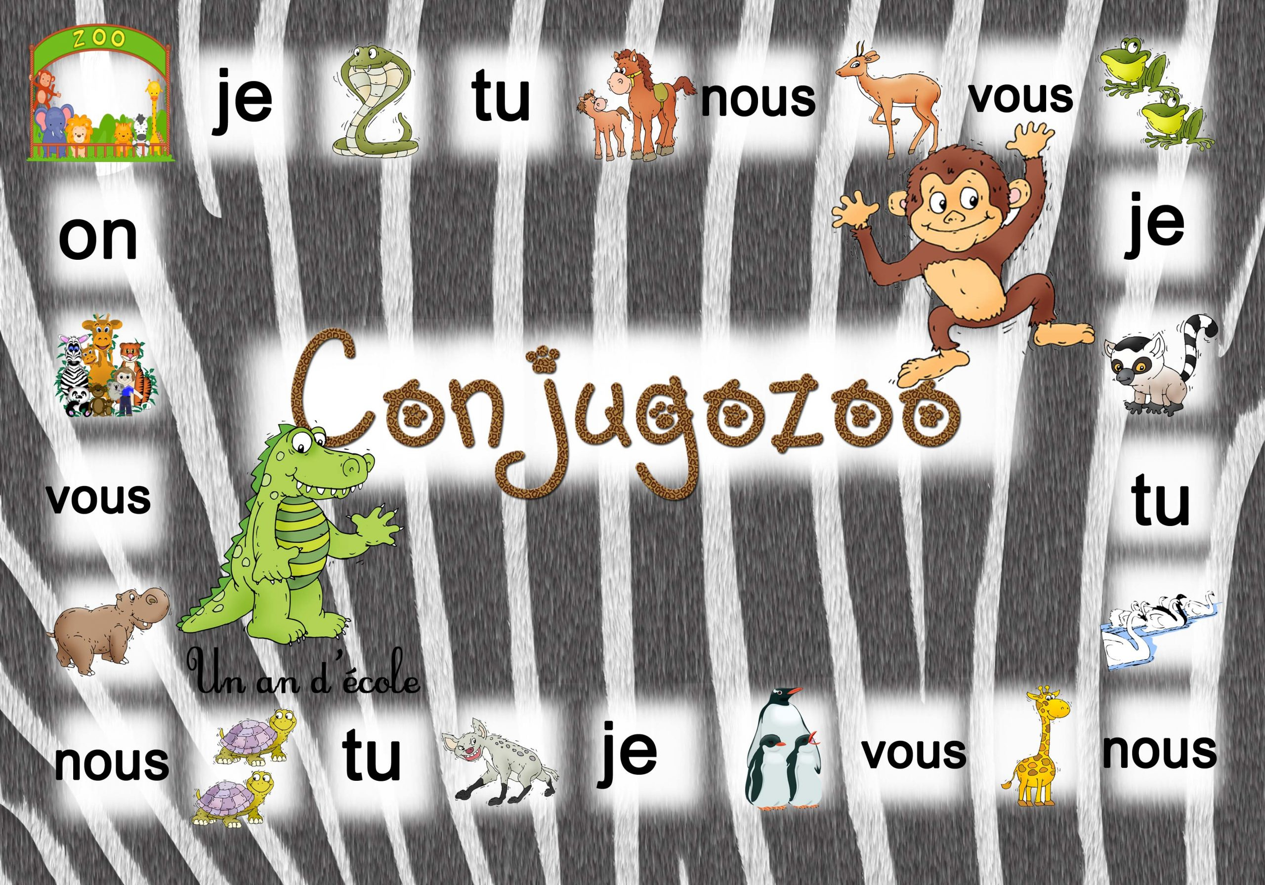 Conjugozoo : Jeu Pour Conjuguer Du Ce1 Au Cm2 En Passant Par concernant Jeux Educatif Ce1 A Imprimer