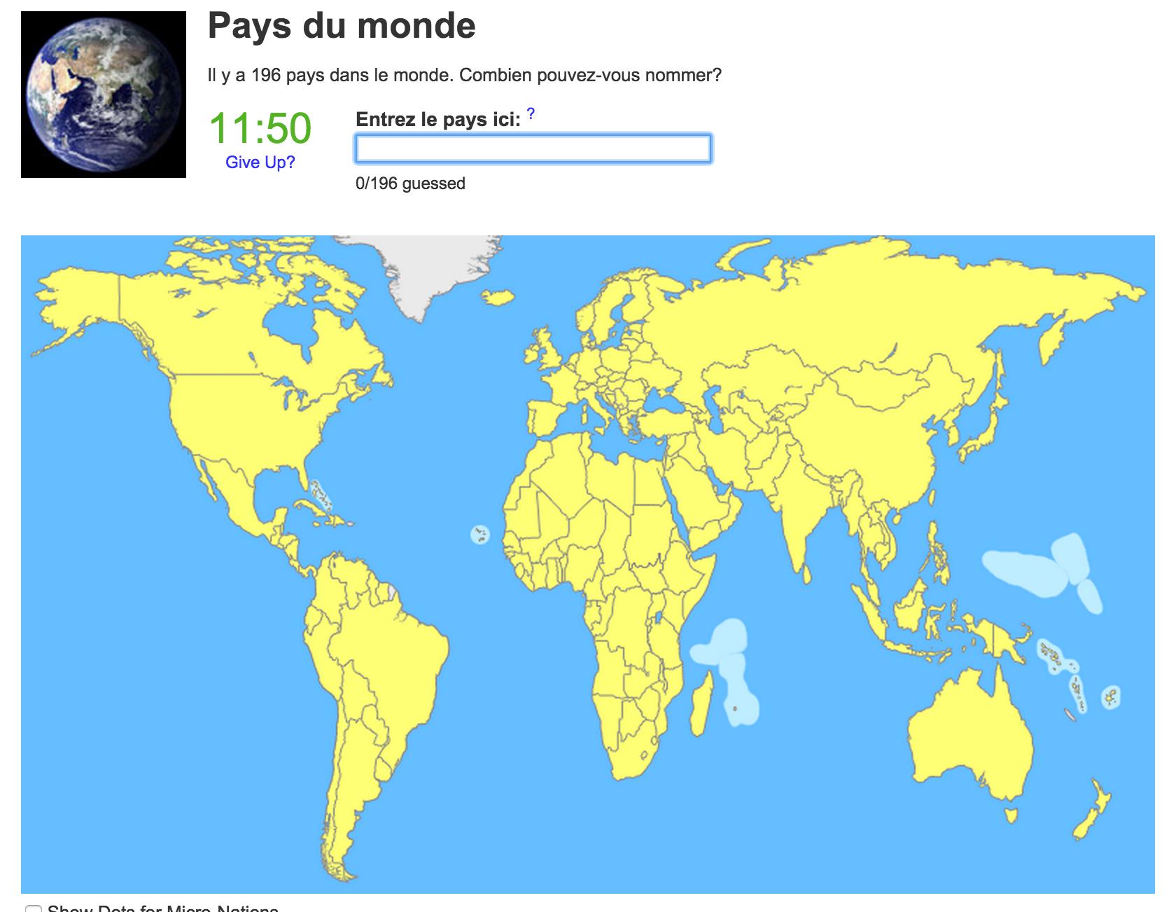 Connaître Notre Planète (Jeux Géographiques) | Mathieu Bélanger avec Jeux Géographique