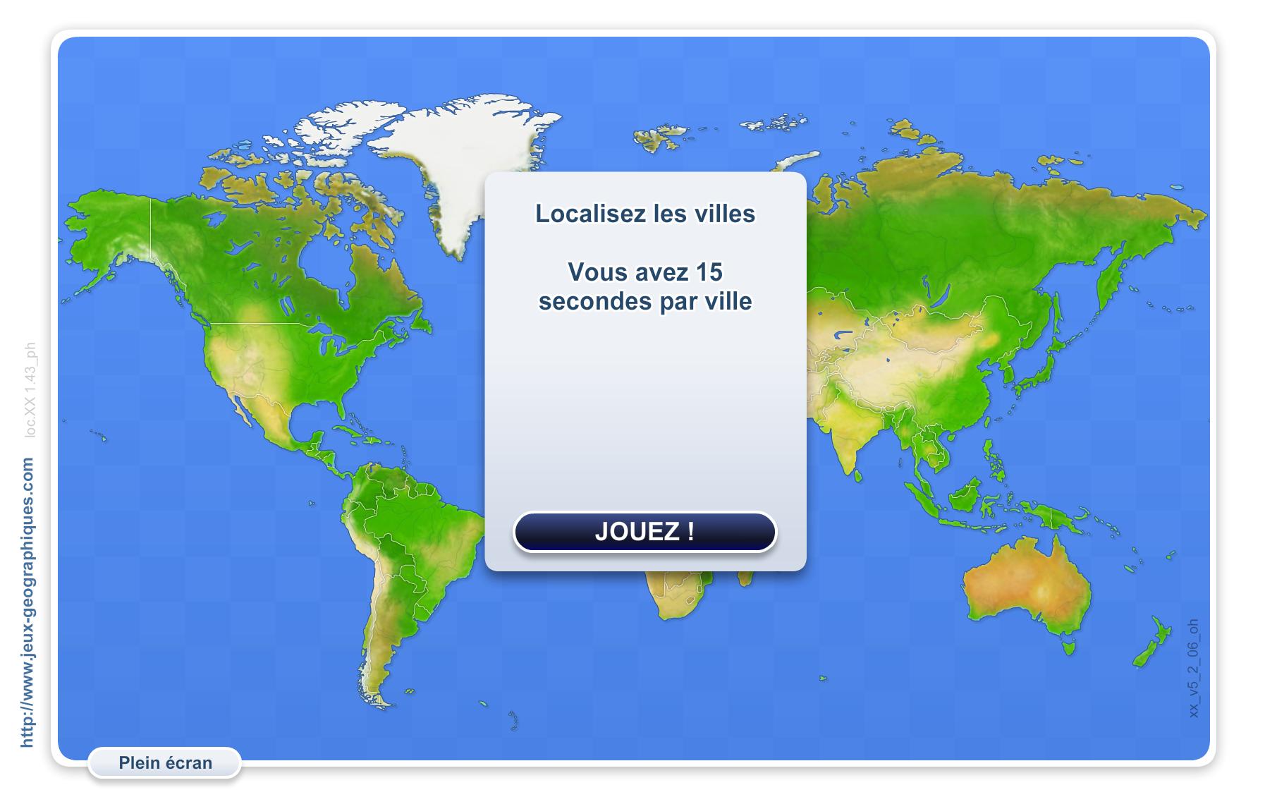 Connaître Notre Planète (Jeux Géographiques) | Mathieu Bélanger pour Jeux Geographique
