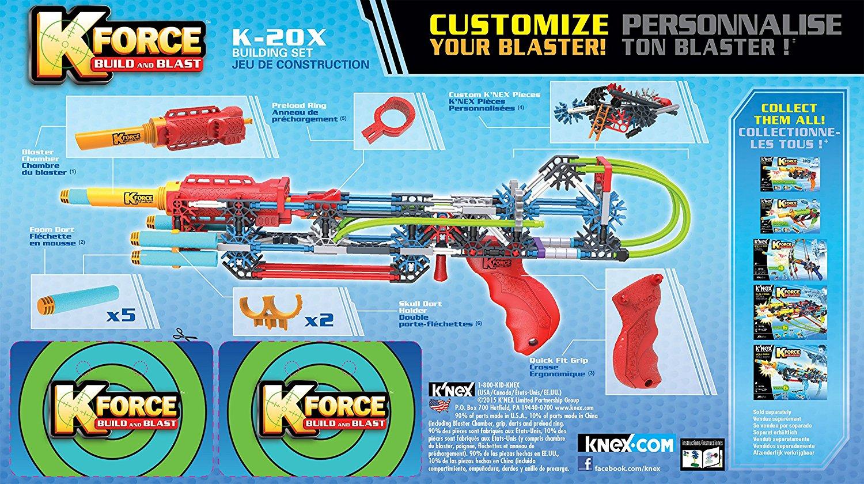 Contemporary Manufacture K'nex K-Force K-20X Blaster pour Jeu Force 4