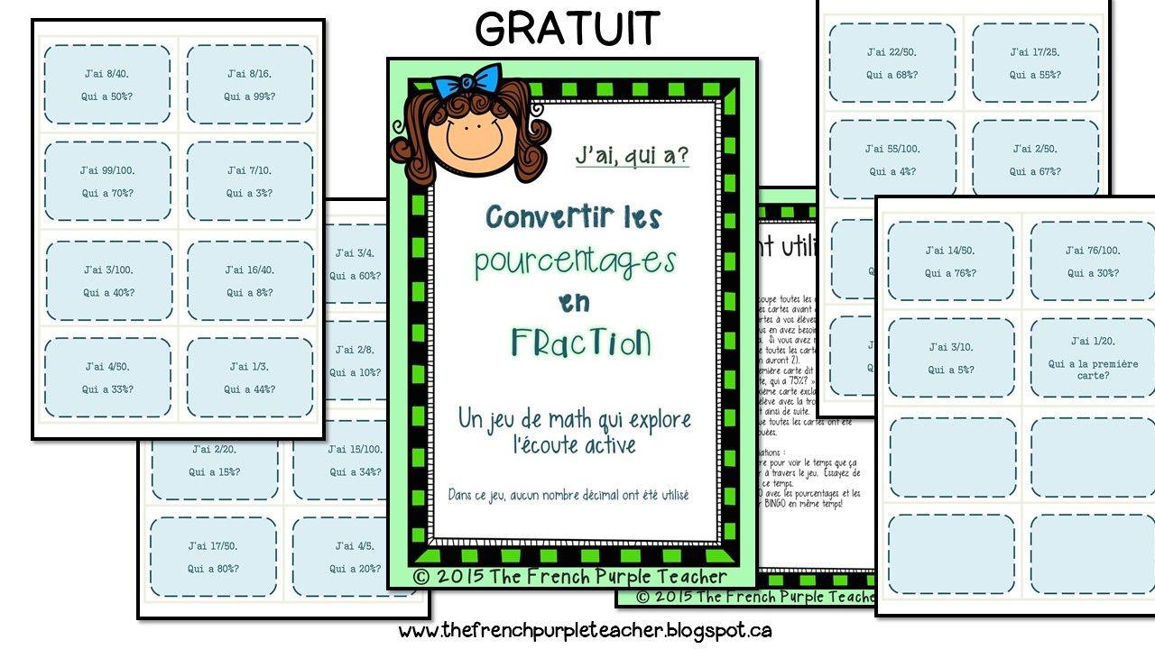 Convertir Les Pourcentages Aux Fractions - Un Jeu De Math dedans Jeux De Maths Gratuit