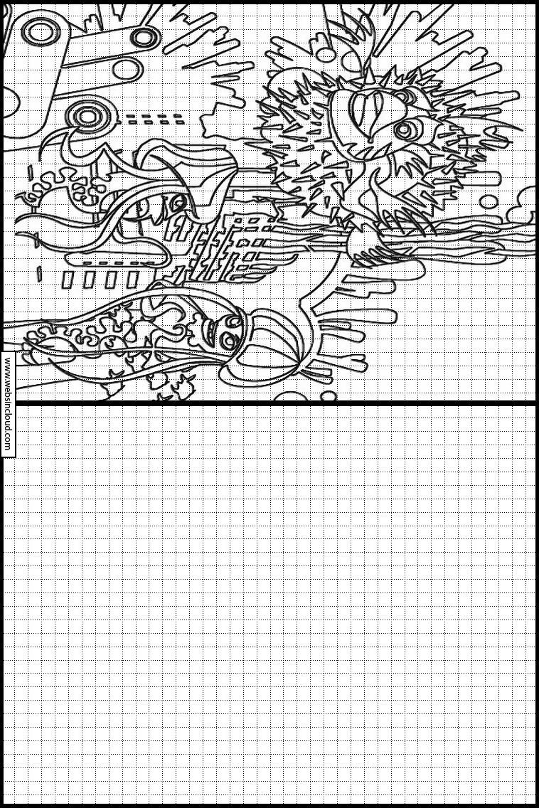 Copie Dessins Sur Quadrillage Gang De Requins 8 avec Quadrillage À Imprimer
