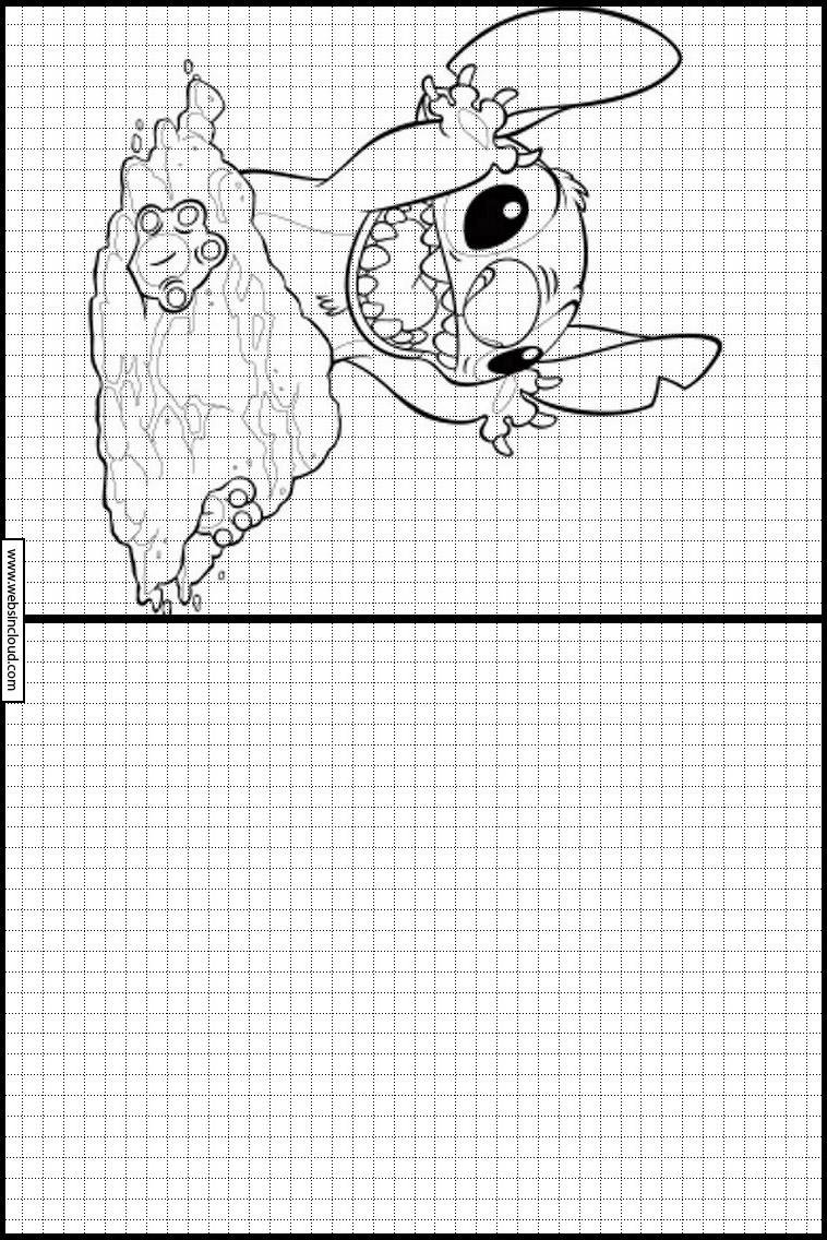 Copie Dessins Sur Quadrillage Lilo Et Stitch 48 intérieur Dessin Sur Quadrillage