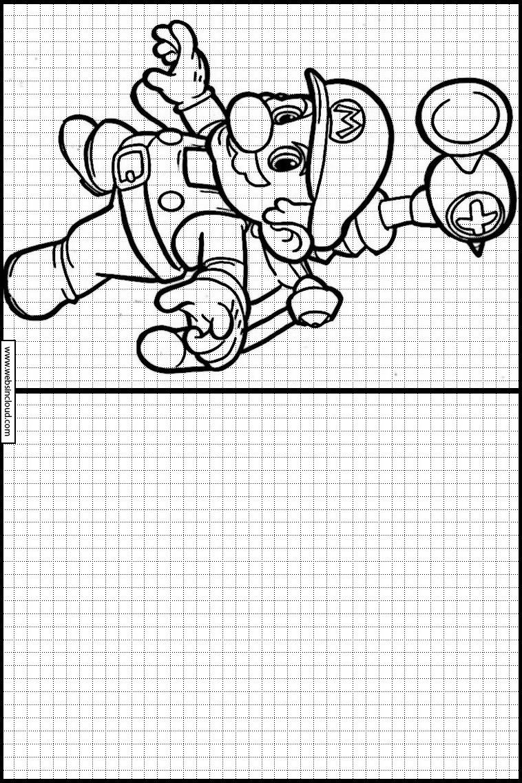 Copie Dessins Sur Quadrillage Mario Bros 18 concernant Reproduire Un Dessin Sur Quadrillage