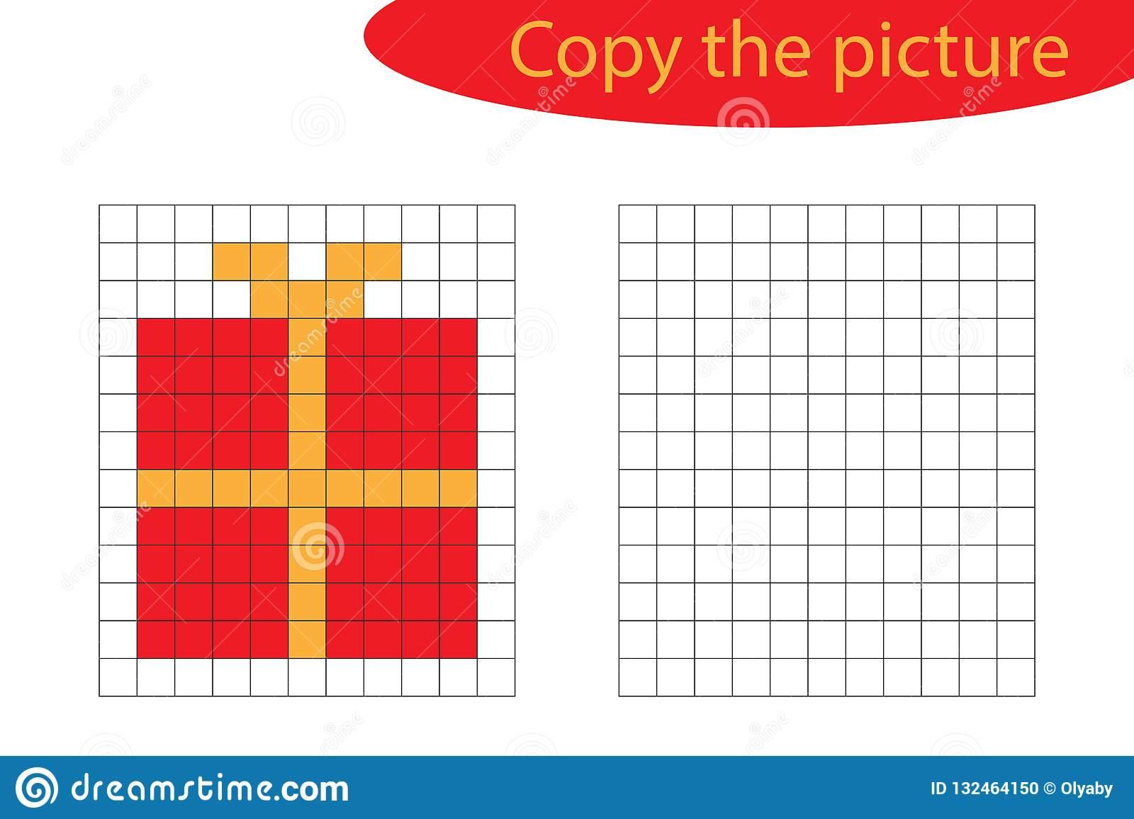 Copiez L'image, Art De Pixel, Bande Dessinée De Cadeau De tout Jeu De Coloriage Pixel