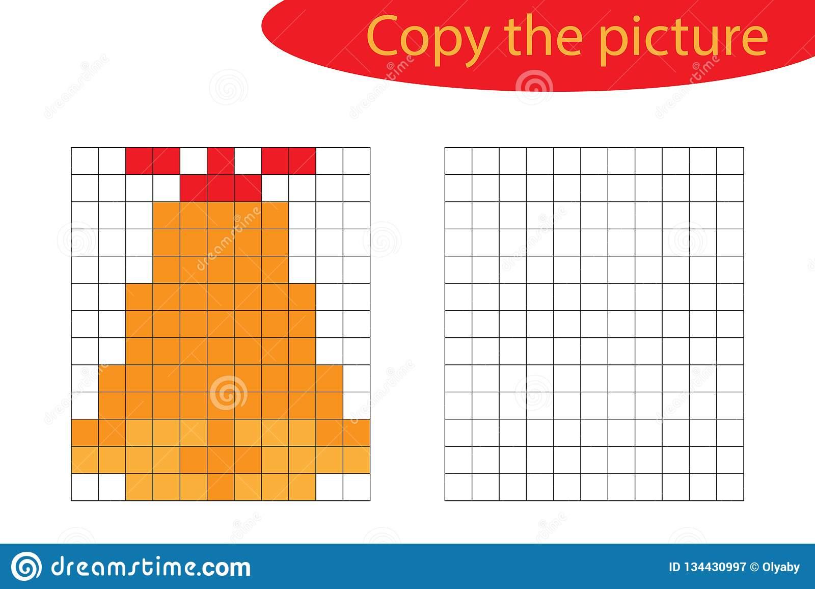 Copiez L'image, Art De Pixel, Bande Dessinée De Cloche De concernant Jeu De Coloriage Pixel