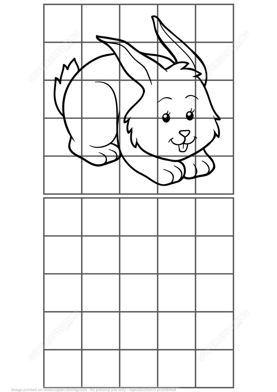 Copy Picture Of Rabbit Puzzle | Free Printable Puzzle Games serapportantà Jeux De Logique Gratuits