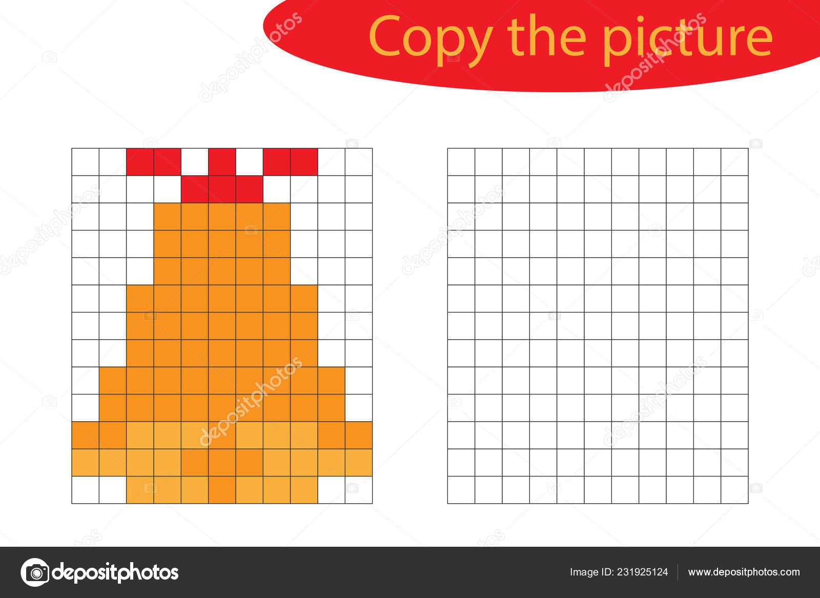 Copy Picture Pixel Art Christmas Bell Cartoon Drawing Skills dedans Pixel Art De Noël