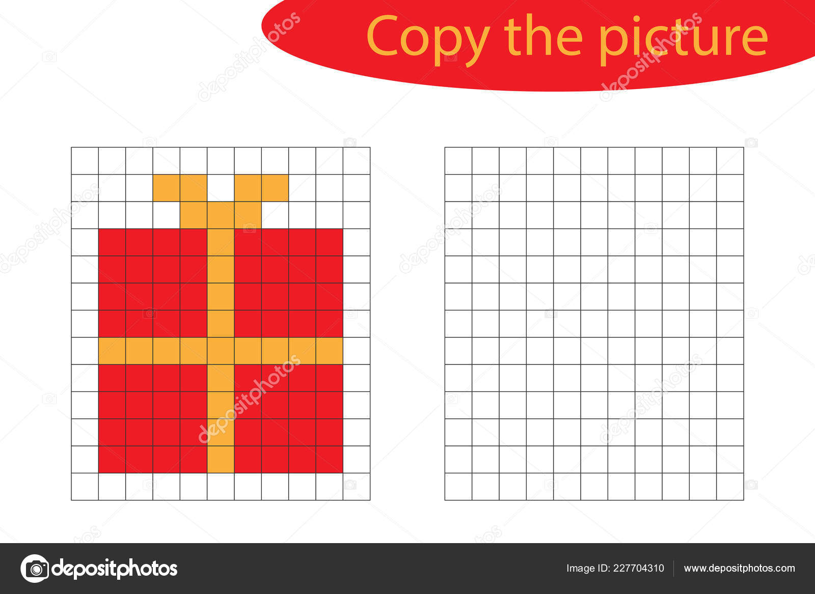 Copy Picture Pixel Art Christmas Gift Cartoon Drawing Skills destiné Pixel Art De Noël