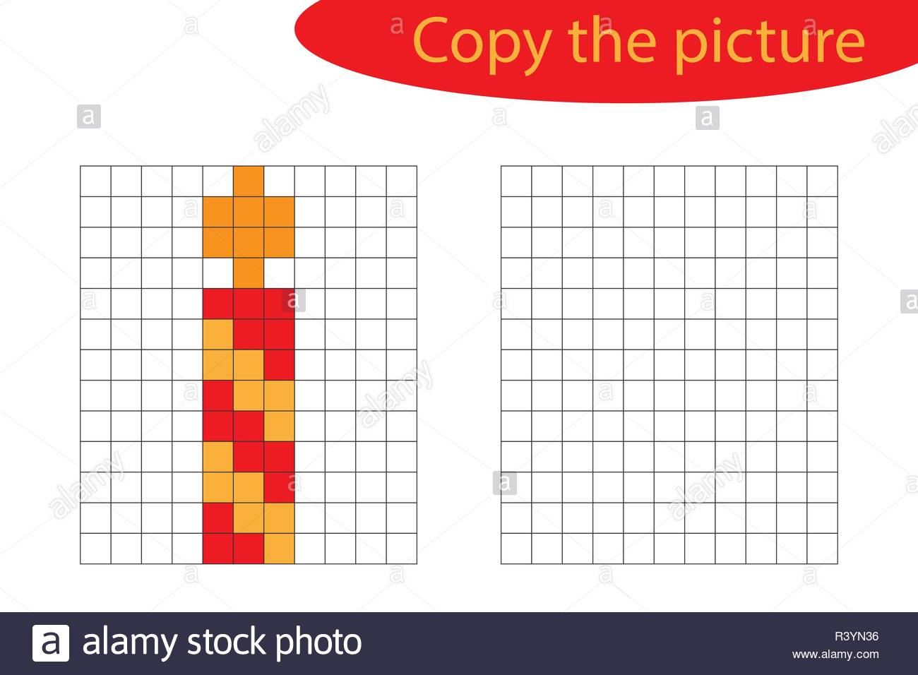 Copy The Picture, Pixel Art, Xmas Candle Cartoon, Drawing tout Pixel Art De Noël