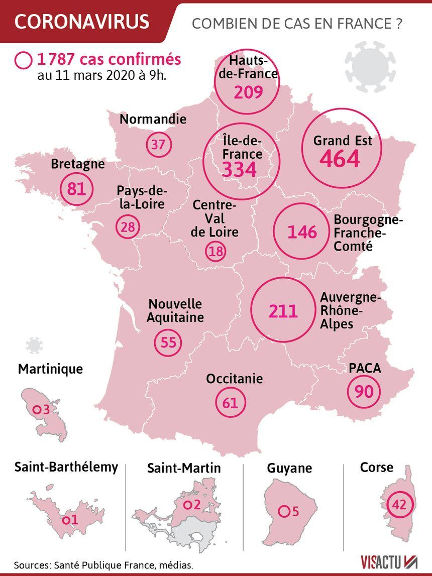 Coronavirus : 15 Nouveaux Décès Et 497 Cas De Plus En 24 Heures serapportantà Combien De Region En France