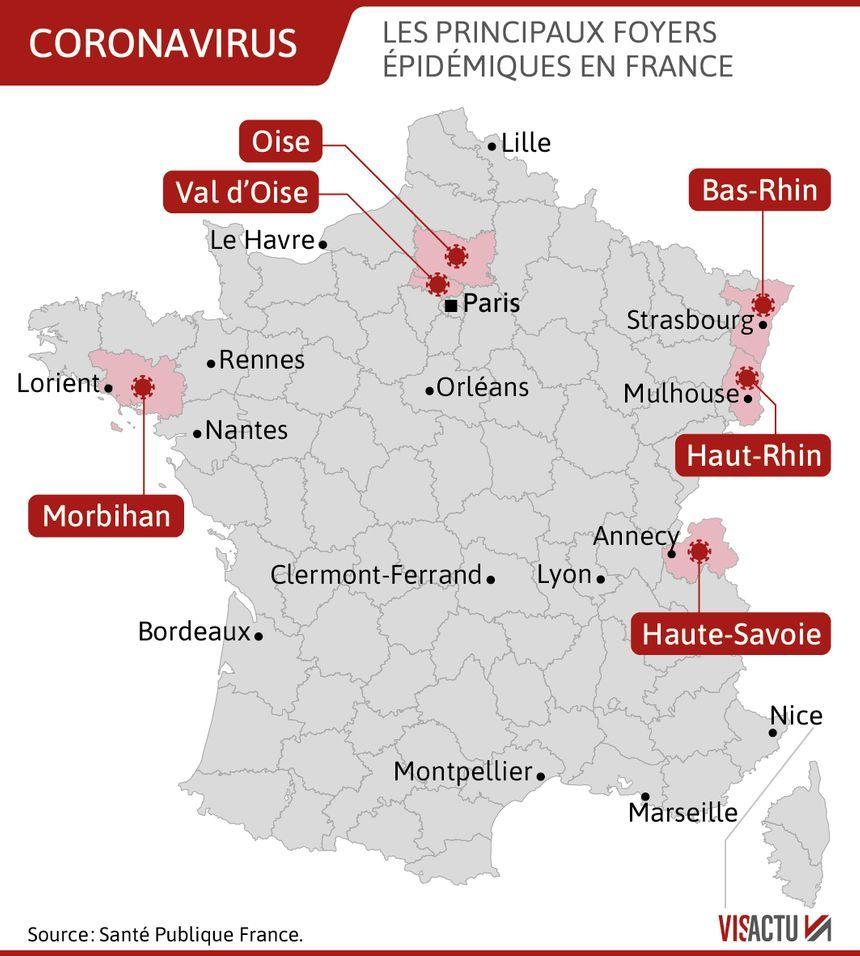 Coronavirus : 336 Nouveaux Cas Et Sept Décès De Plus En 24 encequiconcerne Carte De France Numéro Département