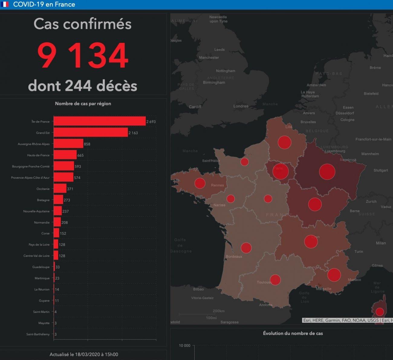 Coronavirus : La Bourgogne Franche-Comté 3Ème Région La Plus encequiconcerne Nombre De Region