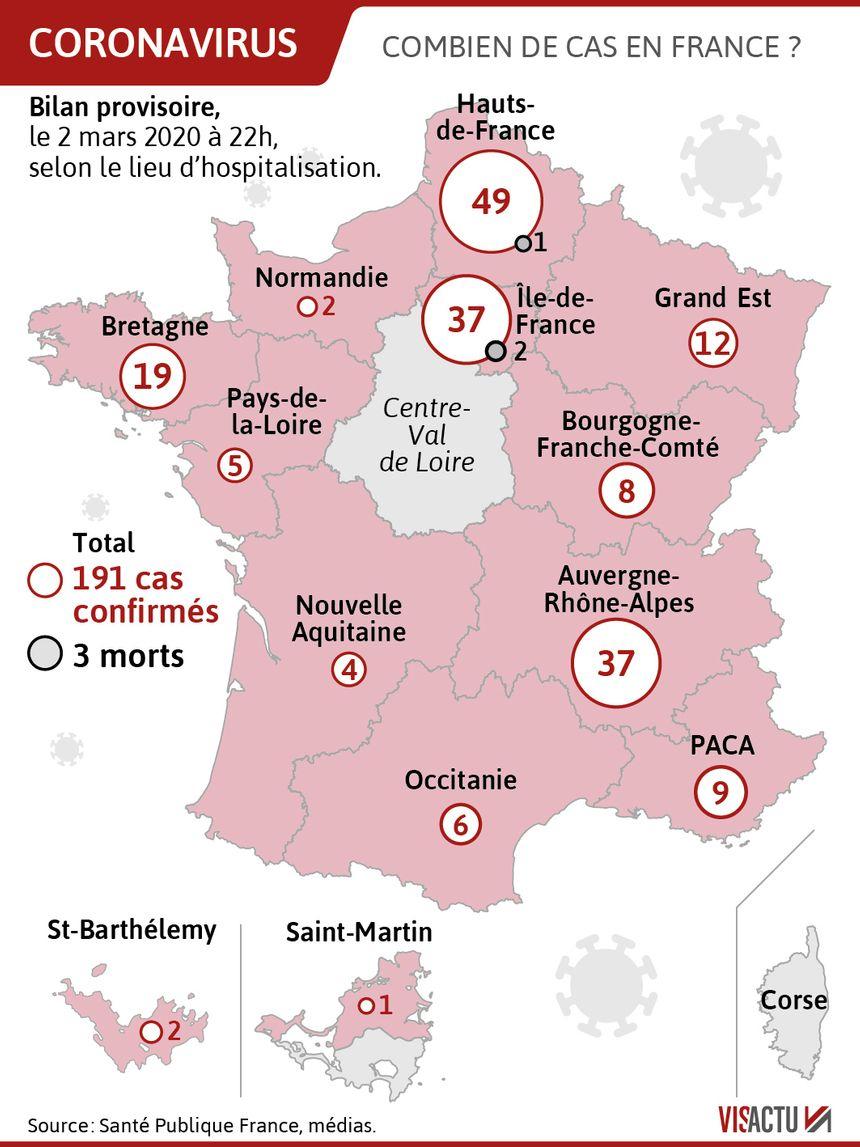Coronavirus : Le Point Sur La Situation Ce Mardi tout Combien De Departement En France