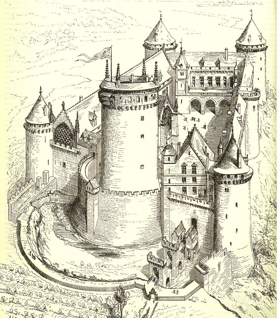 Coucy Castle, As It Looked Before It Was Bombed Into A dedans Image De Chateau Fort A Imprimer