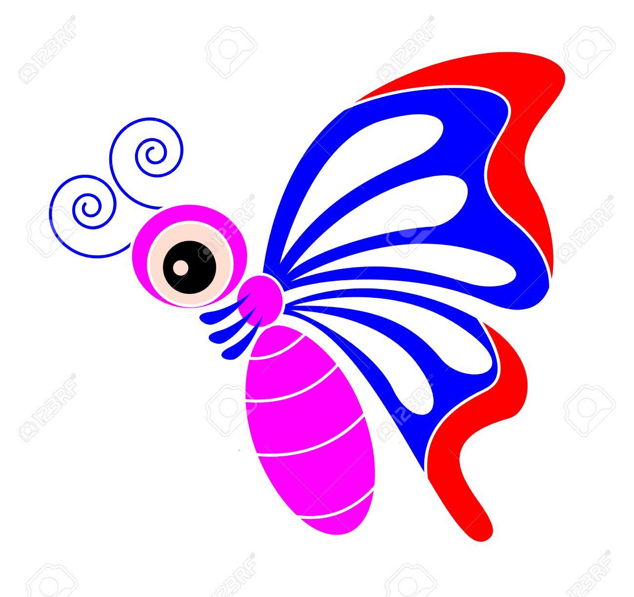 Couleur Papillon Dessin Animé tout Papillon À Dessiner
