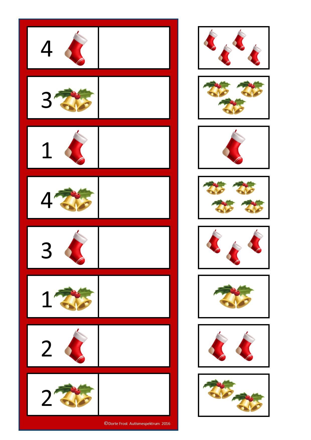 Counting Game. By Autismespektrum. | Noel Maternelle, Jeux intérieur Jeux À Imprimer 3 Ans