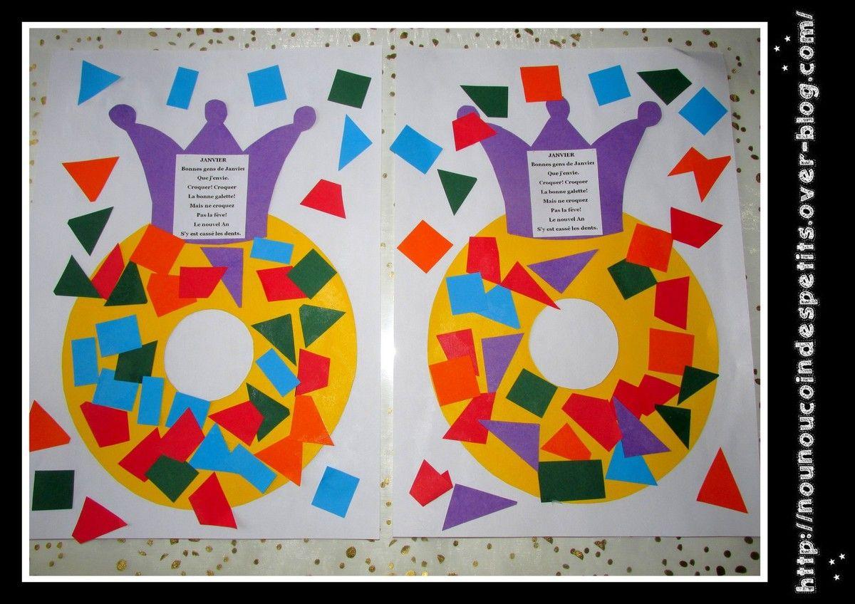 Couronne Des Rois Collage .. | Couronne Des Rois, Galette dedans Activité Manuelle Noel En Creche