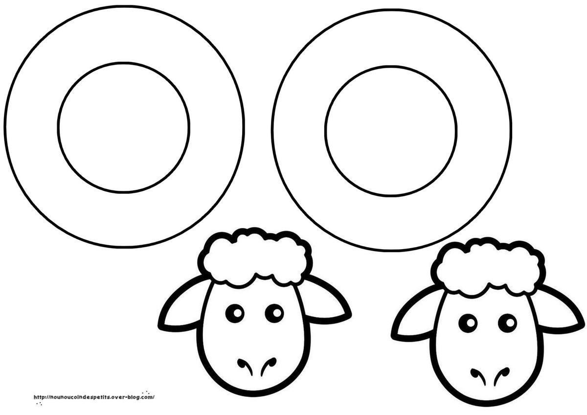 Couronne Mouton Et Petit Mouton A Suspendre .. - Le Blog De pour Photo De Mouton A Imprimer