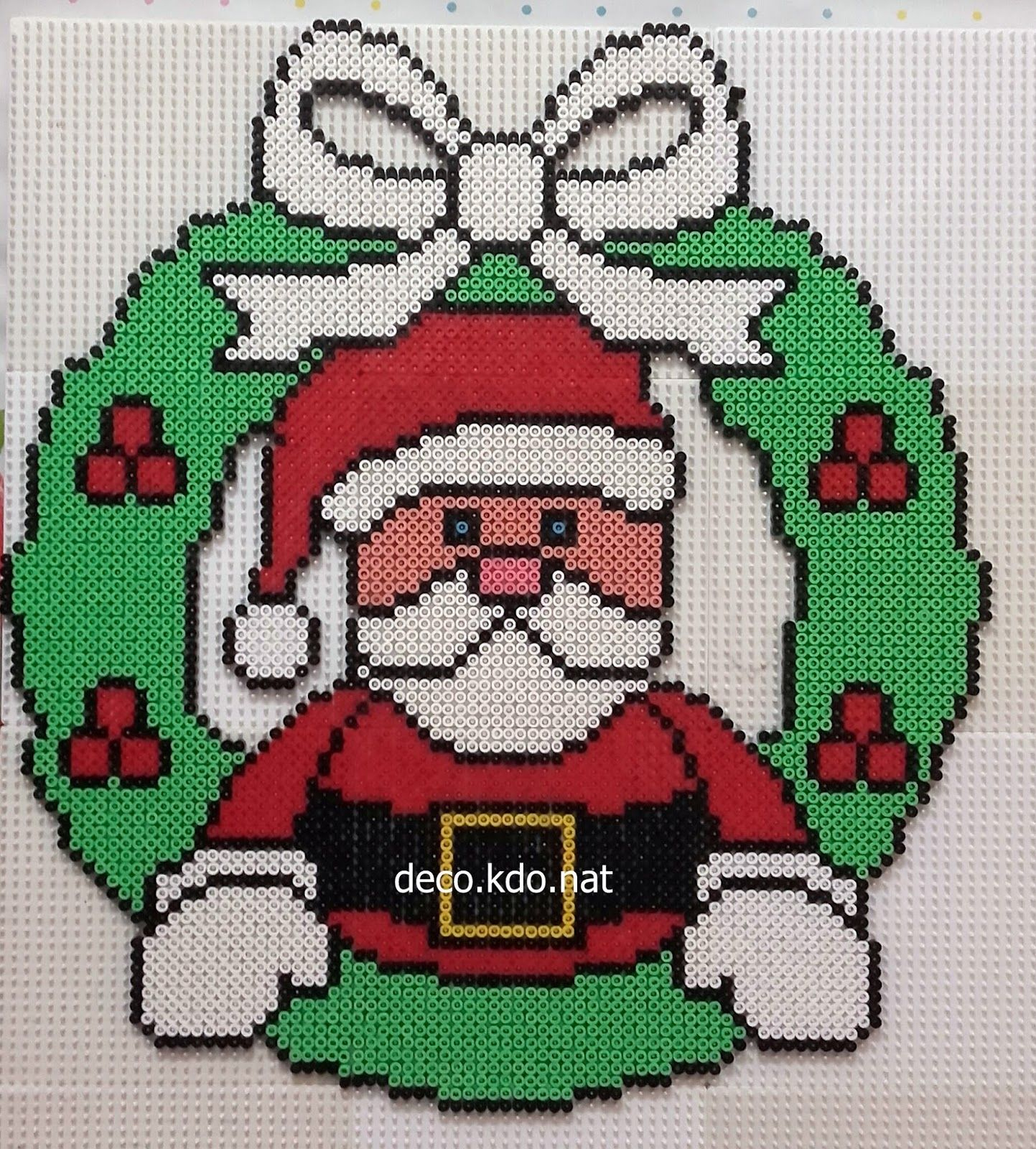 Couronne Père Noël Pour Ce Modèle: 4957 Perles Prix De Vente à Pixel Art Pere Noel