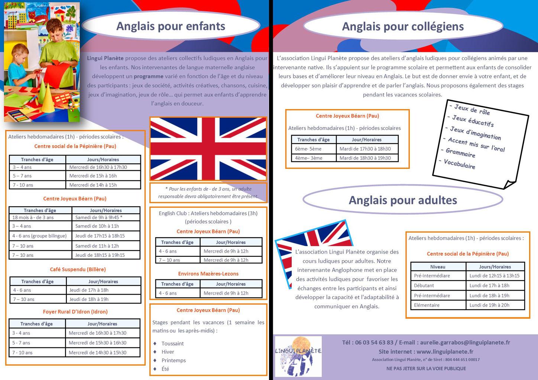 Cours D'anglais Enfants Pau - Lingui Planète avec Jeux Ludique Pour Enfant
