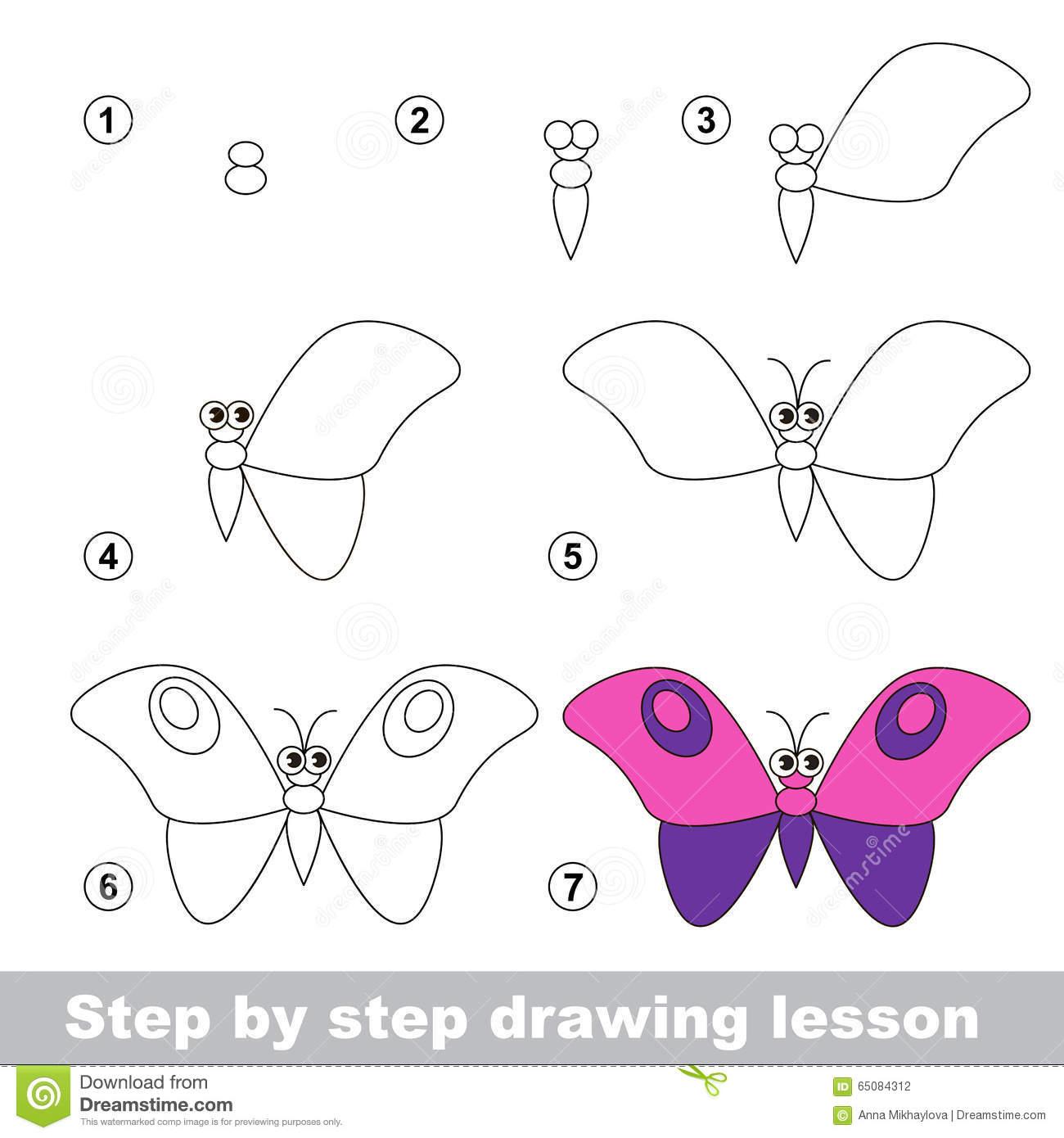 Cours De Dessin Comment Dessiner Un Papillon Illustration De à Papillon À Dessiner