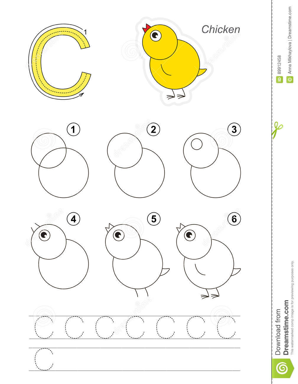 Cours De Dessin Pour La Lettre Illustration De Vecteur tout Jeux Pour Apprendre L Alphabet