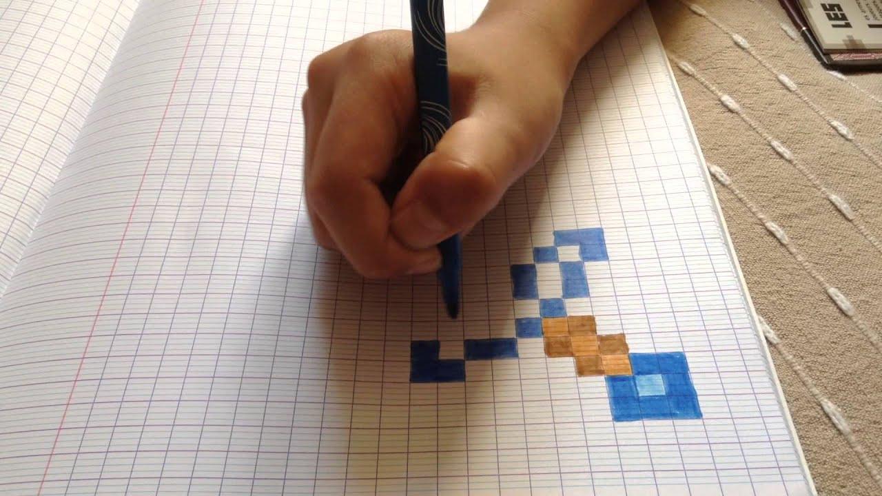 Court De Dessin Sur Minecraft N 1 : L Épée En Diams ! dedans Coloriage D Épée