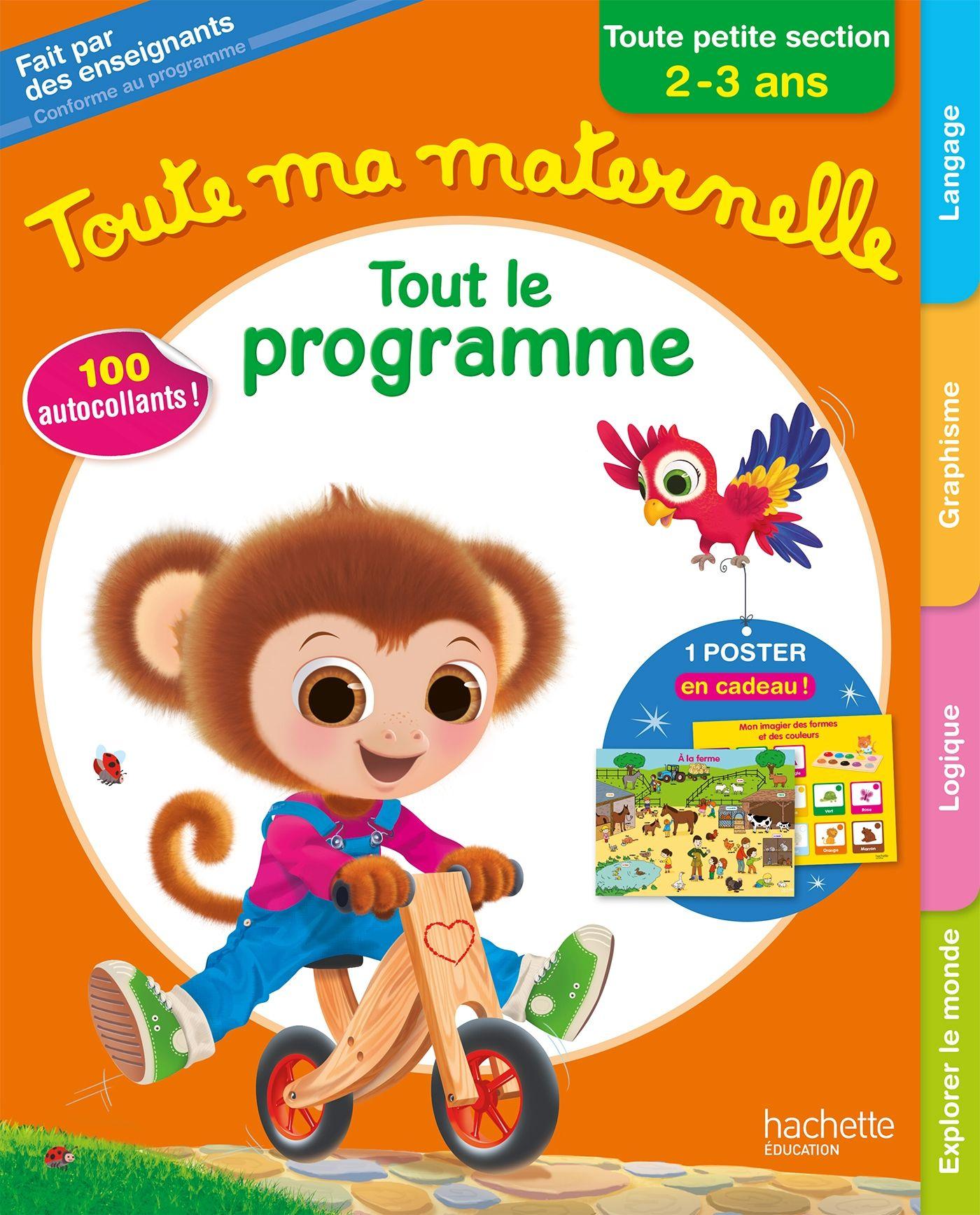 Couverture Toute Ma Maternelle Tout Le Programme Toute intérieur Livre Graphisme Maternelle