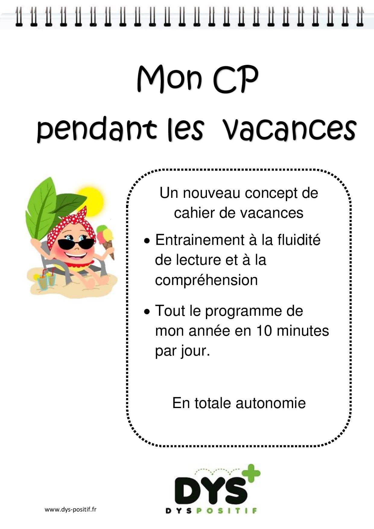 Cp - 1Ère Primaire - Cahiers De Vacances Dys À Imprimer concernant Carnet De Vacances À Imprimer