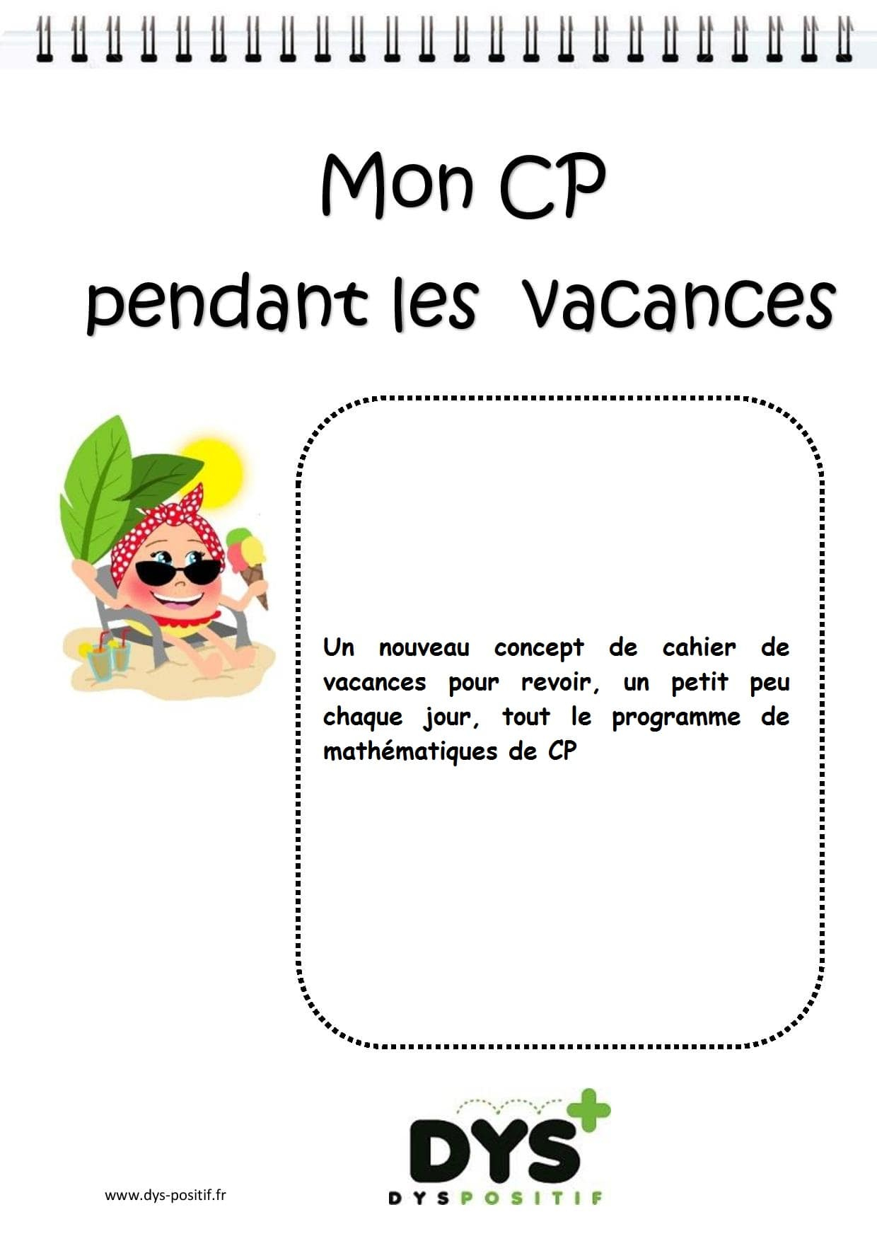 Cp - 1Ère Primaire - Cahiers De Vacances Dys À Imprimer tout Cahier De Vacances À Imprimer