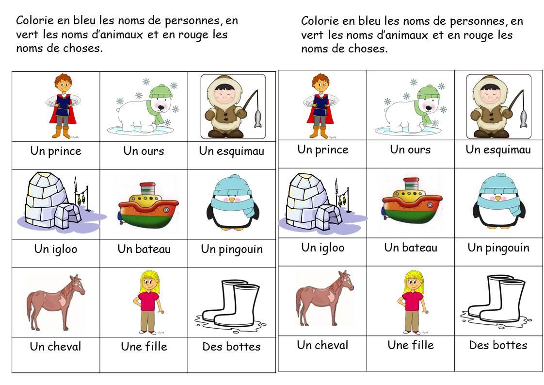 Cp - Faire De La Grammaire Au Cp / Les Noms Et Les avec Apprendre Le Nom Des Animaux