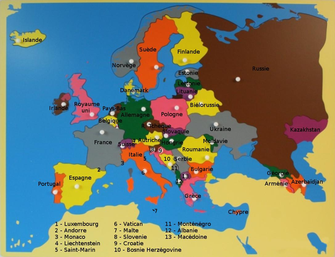 Crapouillotage: Puzzle De L'europe serapportantà Carte De L Europe À Imprimer