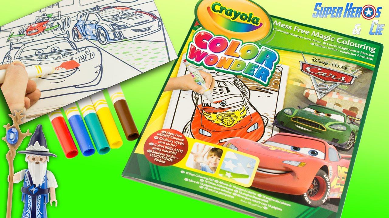 Crayola Color Wonder Disney Pixar Cars 2 Mess Free Magic Colouring 4K concernant Coloriage De Flash Mcqueen