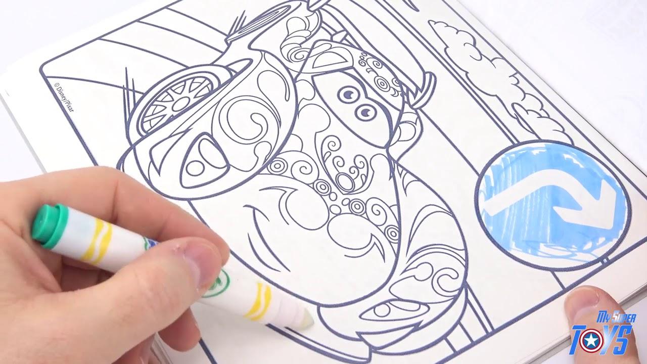 Crayola Coloriage Magique Color Wonder Disney Cars Sans Tache Flash Mcqueen  Les Bagnoles R destiné Coloriage De Flash Mcqueen