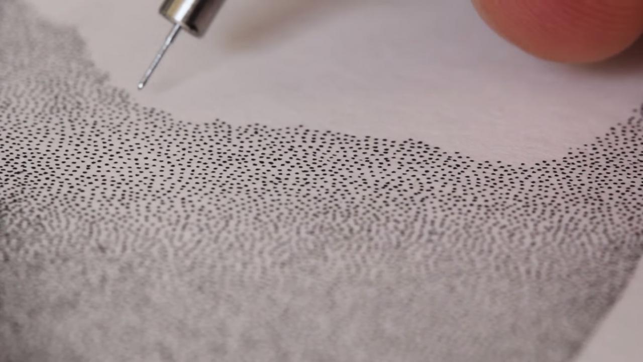 Crayon concernant Dessin En Pointillé