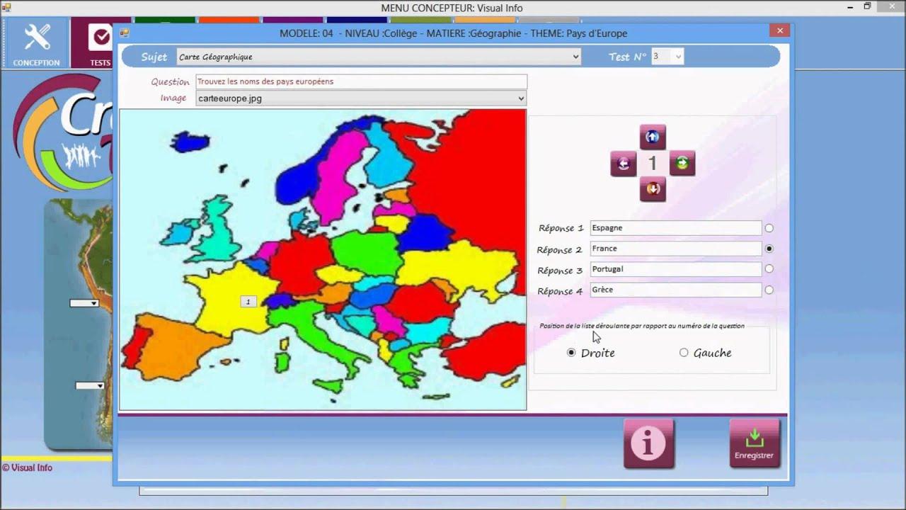 Createst Modele04 Français dedans Carte D Europe En Francais