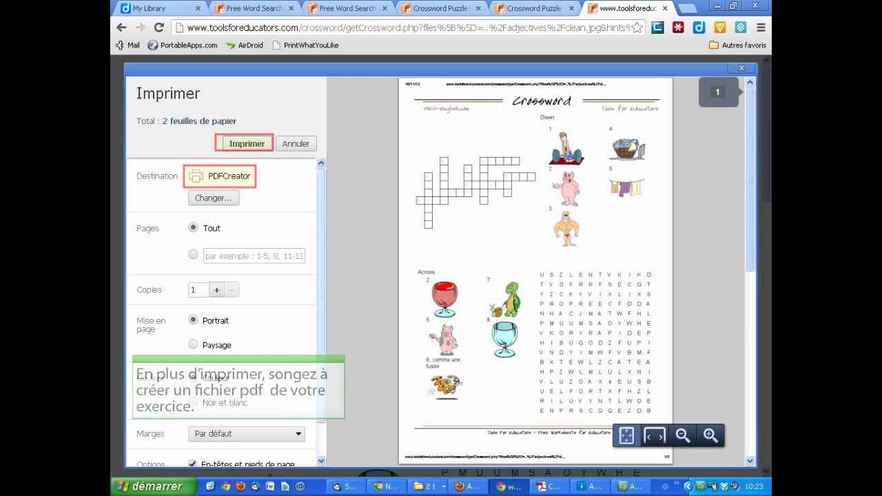 Créer Des Mots Croisés Et Mots Cachés En Image (Tools For Educators 2) tout Fabriquer Un Mot Croisé